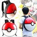 Pokemon Pikachu 3D Ir Bola Puxão de PVC Bolsa de Ombro Schoolbag Mochila Travelbag Lindas Bola Redonda