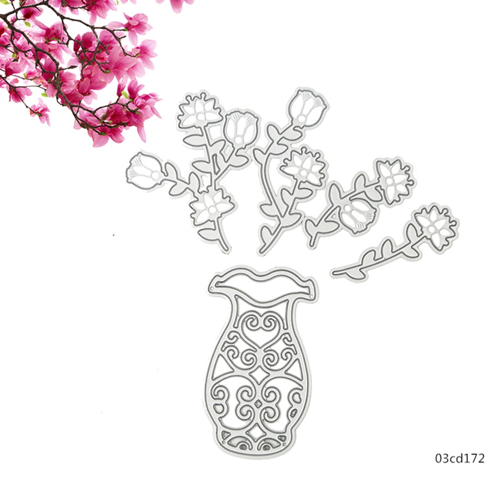 5pcs vase and flowers metal die cutting dies stencis for 5pcs vase and flowers metal die cutting dies stencis for scrapboking paper card album photo craft art embossing painting decor in cutting dies from home reviewsmspy