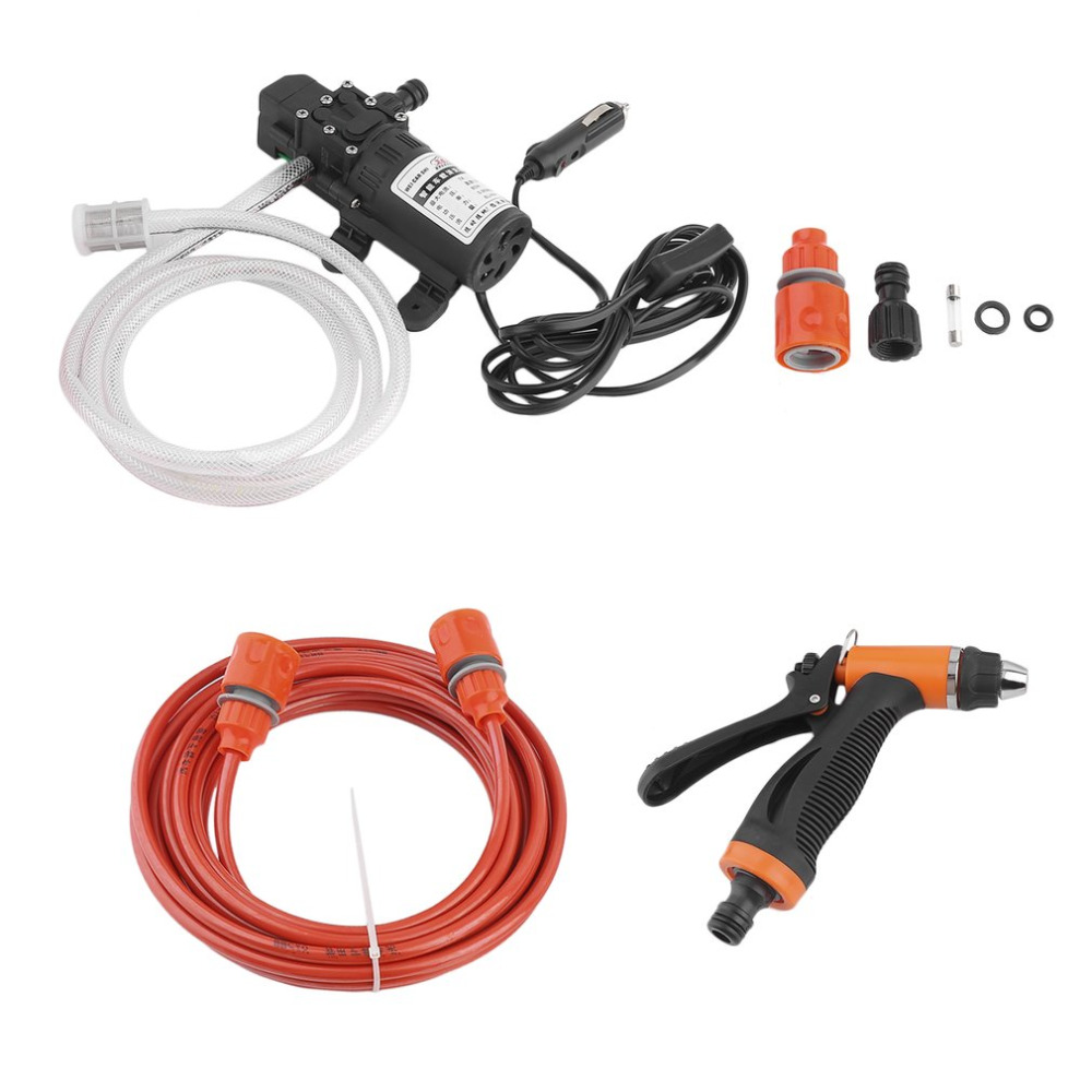 New Electric Car Wash 80W 12V Washing Pump High Pressure Self-priming Car Washer With Cigarette Lighter Cable Hot