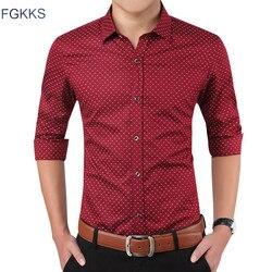 Fgkks 2017 new autumn fashion brand men clothes slim fit men long sleeve shirt men polka.jpg 250x250