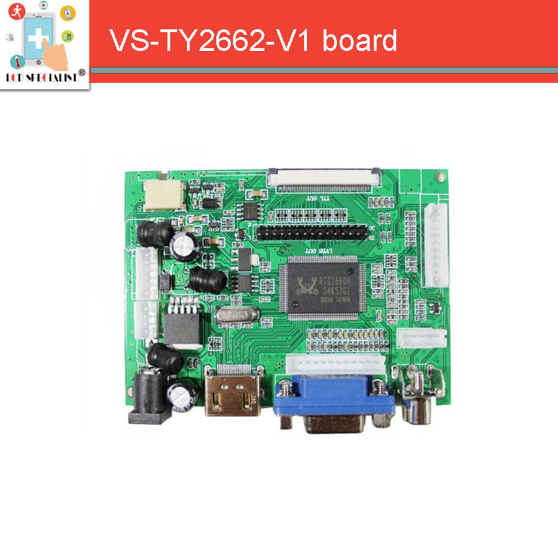 LCD Display TTL LVDS Controller Board HDMI VGA 2AV 50PIN For AT070TN90 92 94 Support Automatically VS-TY2662-V1