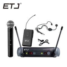 цена на Free shipping Top quality For ETJ PGX24 SM 58 BETA 58 58A type Wireless system Karaoke Professional Microphone Stage KTV DJ