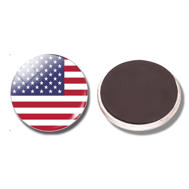 Американский флаг 30 мм магнит на холодильник Американский стеклянный купол магнитные наклейки на холодильник Примечание держатель украшение для дома