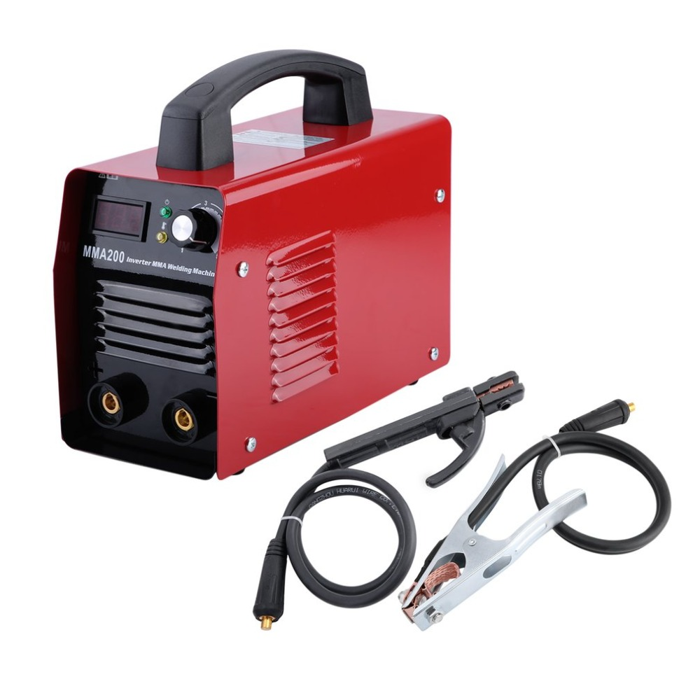 MMA200 Welding Machine Professional Inverter Weld Equipment Durable 220V IGBT MMA Welding Machine Metalworking Parts EU Plug