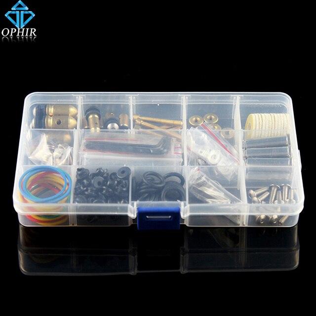 OPHIR New 164pcs/box Pro DIY Parts Accessories Kit for Tattoo Machine Gun Rebuild & Maintain Tattoo Accessories#TA010