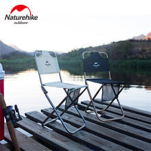 цена на Naturehike Outdoor Portable Folding Chair Camping Beach Picnic Wear-resistant Aluminum Leisure Chair Back Fishing Chairs Stool