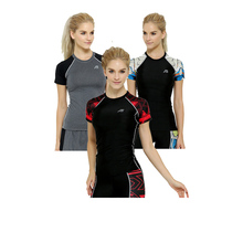 Fashional Women  Tees Women Compression Thight T-shirts Unique 3D Print Breathable Clothing Female Fitness  Shirts