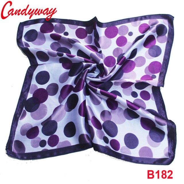 Mode Imprimé Violet Ronde Dot Foulard écharpe de Soie Scarve Accessoires  50x50 cm Tête abstraite foulard 8fb3a8b89c8