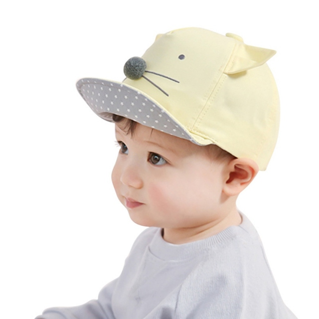 17c5a83ca612 Summer Infant Baby Boys Girls Baseball Cap Toddler Mice Face with ...