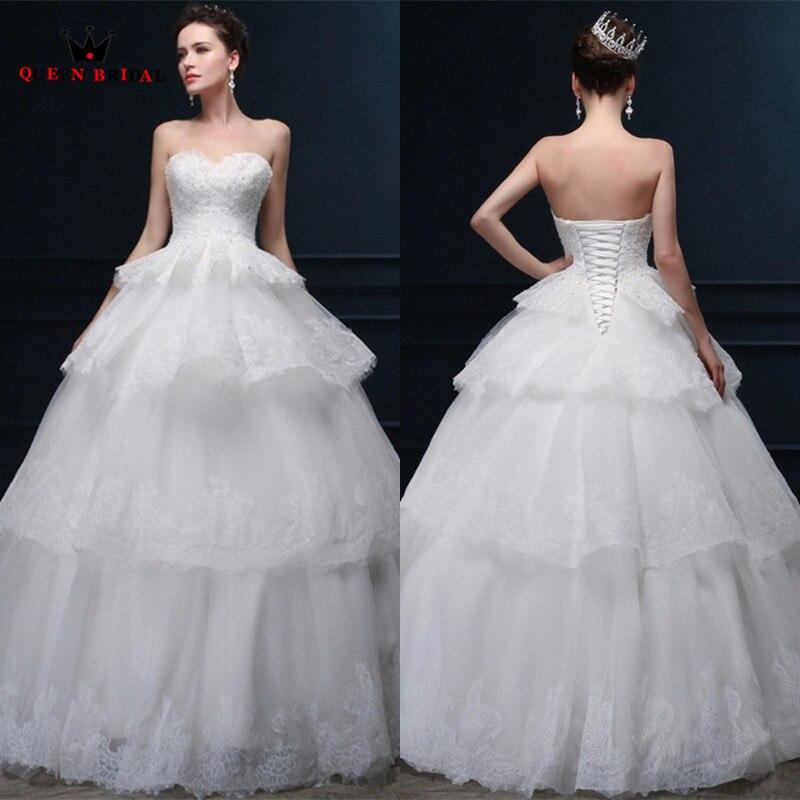 Ruffle Ball Gown Wedding Dress: Custom Made Wedding Dresses Elegant Ball Gown Sweetheart