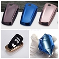 TPU chromed car key shell cover ring protect for BMW X1 X3 X4 X5 X6 1 series 3 5 7 E90 M1 M2 M3 F10 F20 F30 accessories
