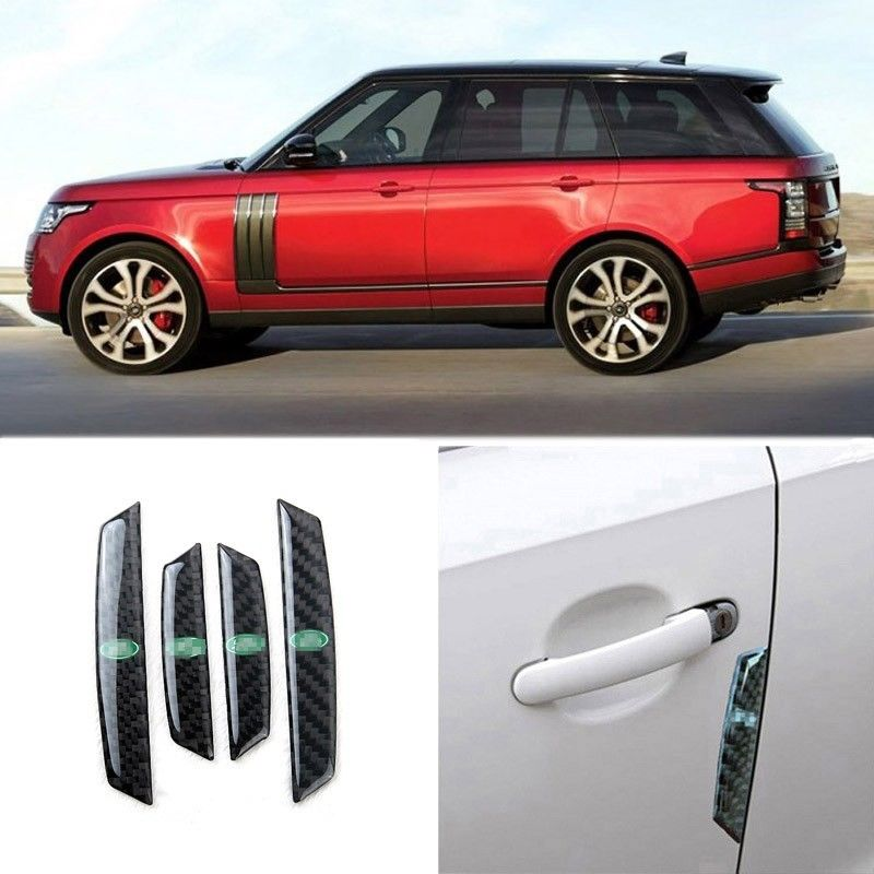 Ipoboo 4 PCS Carbon Fiber Corner Bumper Guards Scratch Protector Strips For Land Rover Series