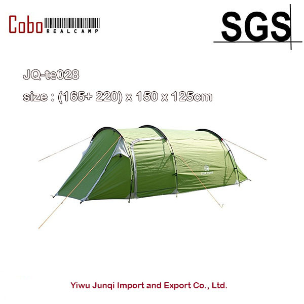 Double Layer Tunnel Tent 3-4 Person Waterproof One Bedroom u0026 One Living Room Family  sc 1 st  AliExpress.com & Double Layer Tunnel Tent 3 4 Person Waterproof One Bedroom u0026 One ...