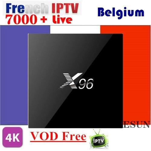 X96 With 1 Year IPTV French Belgium IPTV box Arabic IPTV box Linux System IPTV box