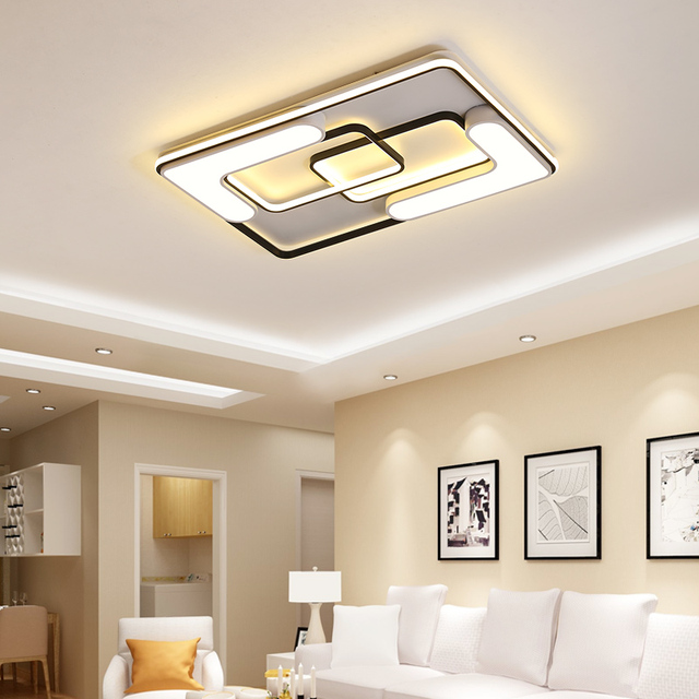 New modern Led Chandelier Ceiling Mounted Linhting For Living Room Dining kitchen Fixtures Lampara De Techo White Acrylic 2019