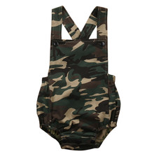 Cool Camouflage Baby Romper 2017 Summer Sleeveless Baby Boys Girls Jumpsuit Sunsuit(China)