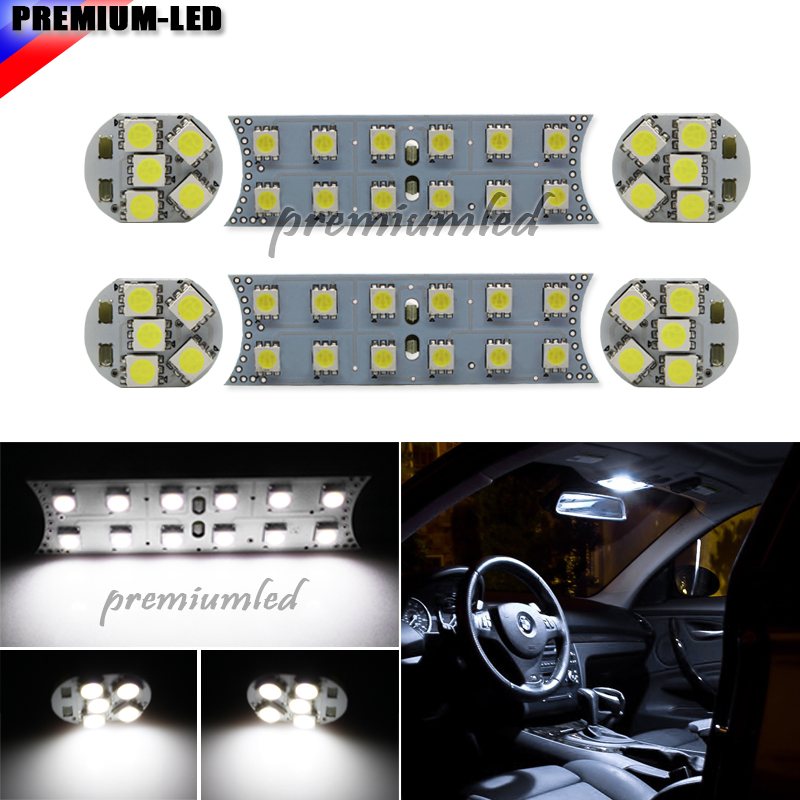 Xenon White 44-SMD 6-Piece Vehicle Specific Exact Fit Full LED Interior Light Package For BMW 1 3 5 7 Series, E87 E82 E90 E92