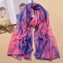 New Designer Scarf Women Luxury 2019 Chiffon  Quality Goods Printed Polyester Scarves Hot Sell Beach Silk