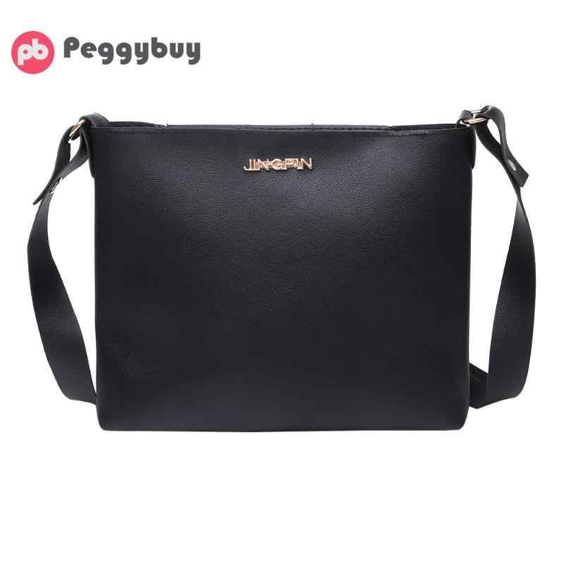 Women Solid Zipper Shoulder Bag Crossbody Sling Satchel Messenger Phone  Coin Bags Fashion Small korean Style 6fd4bf7083f8