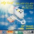 6 цветов пустой СНПЧ для PGI450 CLI451  PGI-450 CLI-451 CIS для canon IP8740 MG5540 MG6440 IX6540 MG7140 iP7240  с чипом ARC