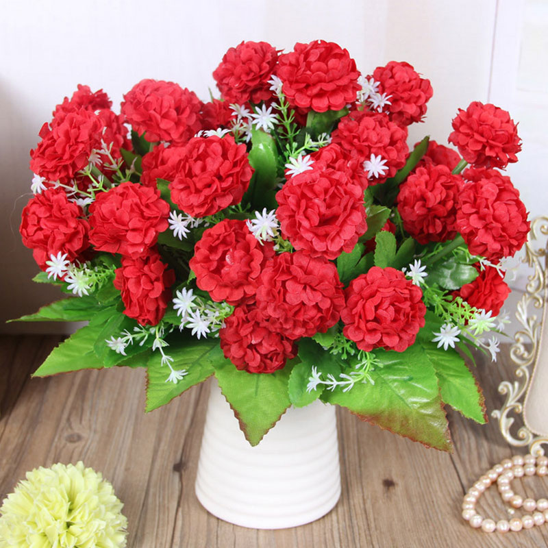 5 cm 8 flower head Autumn fake hydrangea silk plastic artificial for wedding decoration Party home room decor