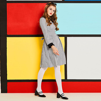 Sisjuly Women S Vintage Dress Autumn Full Sleeve Peter Pan Collar Plaid Sashes A Line Knee