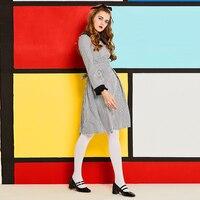 Sisjuly Women S Vintage Dress Autumn Full Sleeve Peter Pan Collar Plaid Sashes A Line Knee