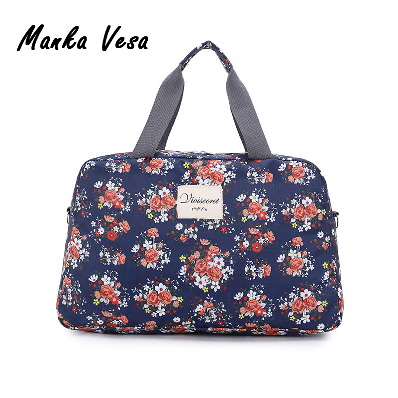 Manka Vesa 2017 New Fashion Women's Travel Bags Luggage Handbag Floral Print Women Travel Tote Bags Large Capacity