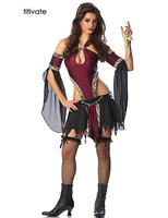 Sexy Fancy Adult High Quality Pirates Cosplay Costume Fantasias Halloween Party Leopard Dress Role Playing Uniforms