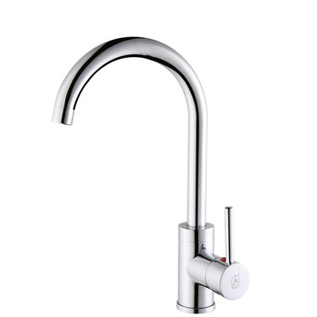 KES L620A Brass Single Lever Kitchen Sink Faucet with Swivel Spout, Polished Chrome