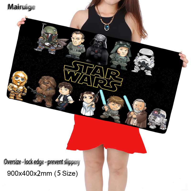 Mairuige Free Shipping Large Star Wars Gaming Big Size 300*800*2MM Rubber Game Mouse Pad Laptop Computer Mat Large Mat Anti-Slip