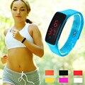 watch men sport 2016 Fashion Ultra Thin Girl Men Sports Silicone Digital LED Sports Wrist Watch relogio masculino esportivo
