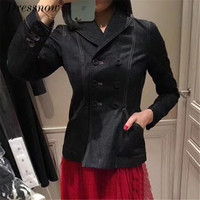 Top QualityFashion Jackets for Women Summer Lond Sleeve Coat Denim Jackets New Party Coats for lady