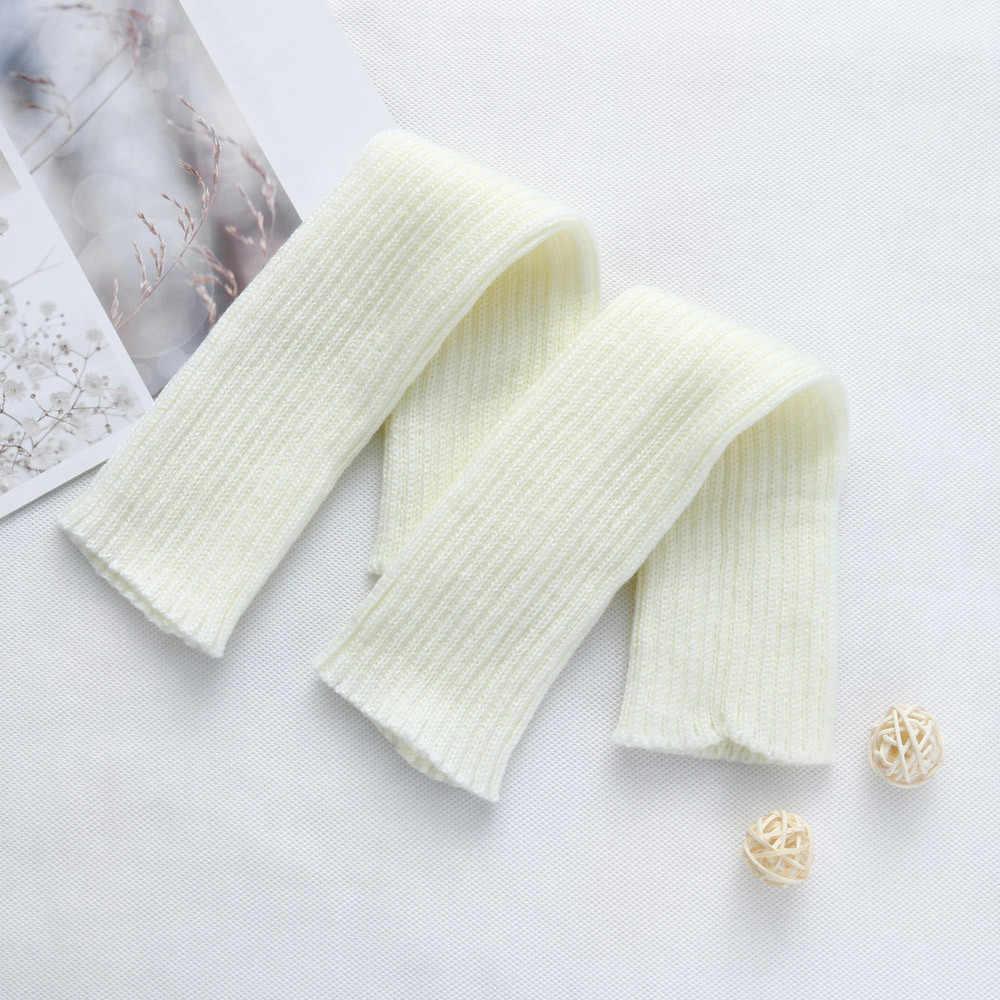 De moda de las mujeres giro calentadores de la pierna calcetines de arranque cubierta pierna Calcetines de algodón