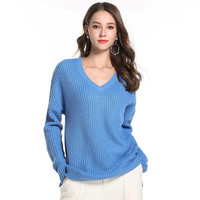 bb856e785196dd Womens Sweaters 2018 Winter Long V Neck Grey Autumn Clothing Knitted Jumper  Fashion Women Winterss Clothes