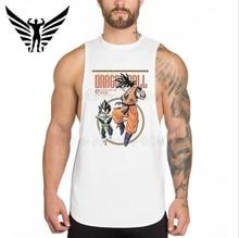 Muscleguys Brand New Dragon Ball Mens tank tops casual sleeveless vest Son Goku Bodybuilding t shirt super saiyan singlets
