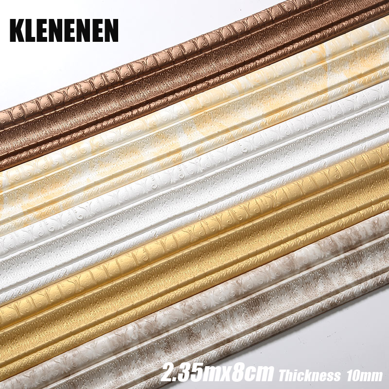 3D Marble Self-adhesive PVC Waterproof Baseboard Wallpaper For Walls Roll Kick Adhesive Waist Line Wall Living Room Baseboard