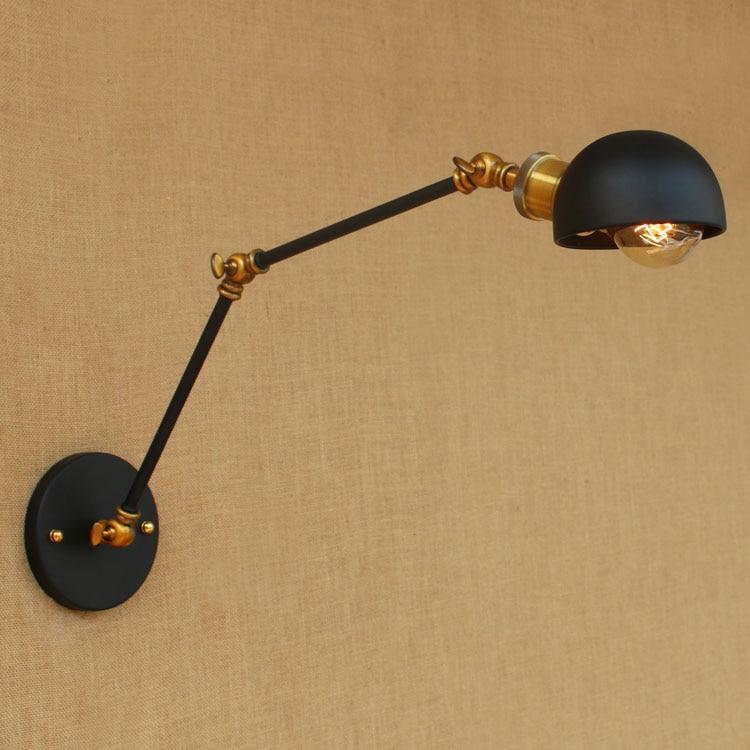 Loft stílusú retro vintage fali lámpa, rusztikus, lengő karos, - Beltéri világítás - Fénykép 4