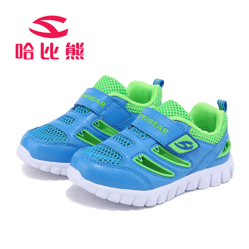 HOBIBEAR 2017 New Boys Sneakers Mesh Breathable Sport Kids Shoes Unique Design Summer Active Shoes Tenis Infantil glowing sneakers usb charging shoes lights up colorful led kids luminous sneakers glowing sneakers black led shoes for boys