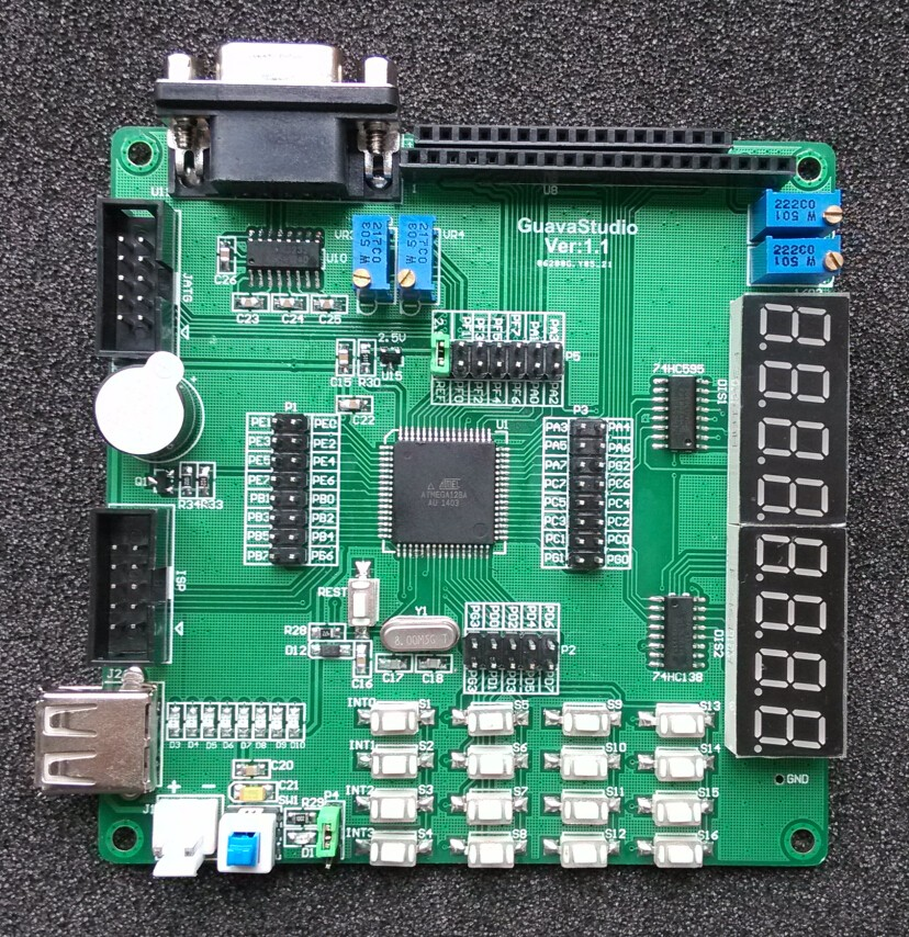 Free Shipping  Atmega128A Development Board AVR Development Board Atmega128 Development Board To Send USBISP-USB Wire