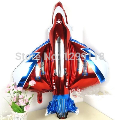 40 inch Large Size Fightling Airplane Shaped Foil Balloons Children Birthday Party Decoration Ball Inflatable Classic Toys B051 image
