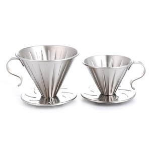 Realand Stainless Steel Clever Pour Over Coffee Dripper Brewer Cone Filter Coffee Maker with Perfect Stand(China)