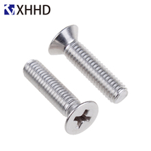 304 Stainless Steel Phillips Flat Head Machine Screw Metric Threaded Countersunk Cross Recessed Bolt M6 M8 hot sale m6 x 150mm 304 stainless steel fully threaded rod bar studs hardware 5 pcs
