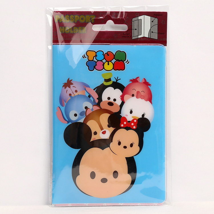 PVC Cartoon travel accessories passport Cover with size 5.5*3.8-monkey