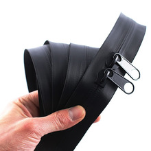 No. 10# long chain large roll invisible waterproof Zipper double opening black nylon Coil zipper for DIY Sewing Tents travel bag