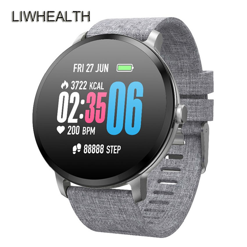 Fashion 360 Smart Watch Men/Women Breath Light HR/BP Health Fitness Smartwatch Fo Apple/Moto/Xiaomi/Samsung Reloj Inteligente