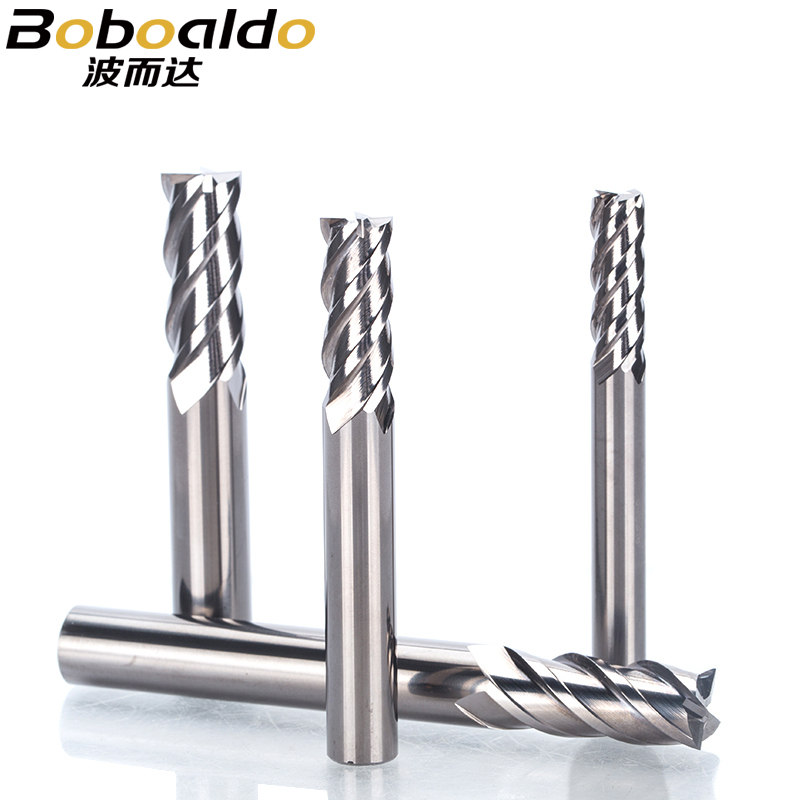 1PC HRC 65 Cermet 4 Flutes Spiral End Mill CNC High Wear Resistance Milling Cutter For Metal Finishing Steel