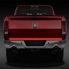 60 «DRL Реверсивный тормоза Бег поворотов грузовик белый красный Лампы для мотоциклов Прицепы багажника свет бар светодиодные дневные Бег свет 6 в 1