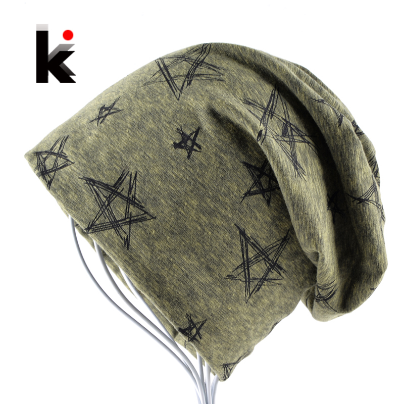 2017 Autumn And Winter Beanie Mens Skullies Bonnet Hat Hip Hop Cap Cotton Pentagram Hats For Men And Women Beanies unisex cotton hip hop hat with ring warm beanie cap in winter women knitted hats men and women skullies