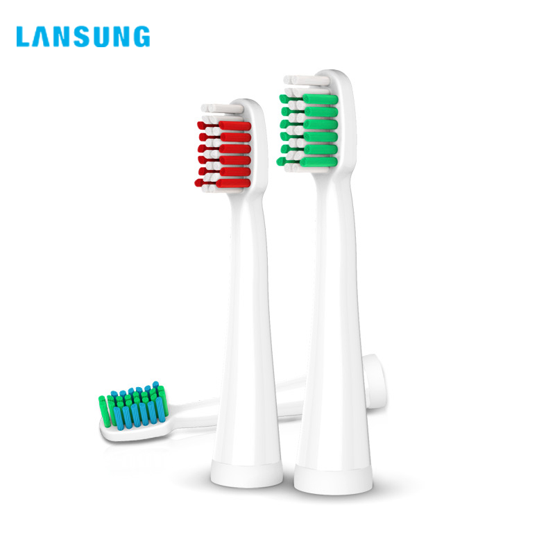 LANSUNG 4Pcs Toothbrush Head Electric Toothbrush Replacement Head Fit for U1 A39 A39PLUS A1 SN901 SN902 Tooth Brush Oral Hygiene цена